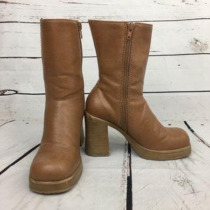 Xhilaration heel boots platform bratz